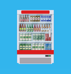 Showcases refrigerators for cooling drinks vector