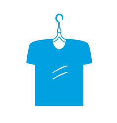 Silhouette man t-shirt casual design style vector