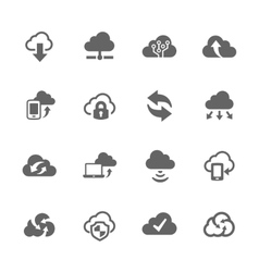Simple Computer Cloud Icons vector image