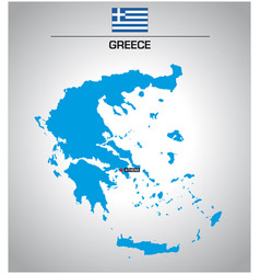 simple outline map greece with flag vector image