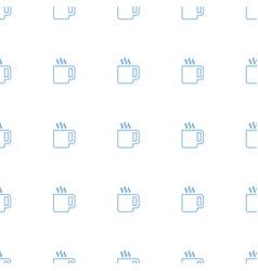 Tea icon pattern seamless white background vector