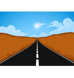 The road vector image