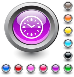 Time round button vector
