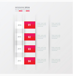 Timeline design design pink gradient color vector