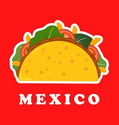 traditional mexican taco spicy delicious tacos vector image
