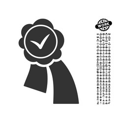 Validation seal icon with professional bonus vector