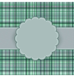 Wallace tartan vintage card background EPS 8 vector image