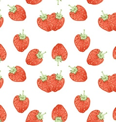 Watercolor strawberry in vintage style vector image