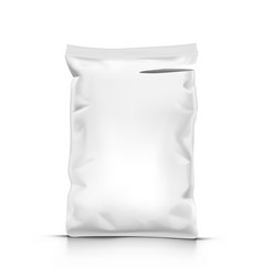 white stand up sealed empty plastic bag package vector image