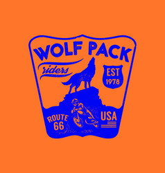 Wolf pack riders vector