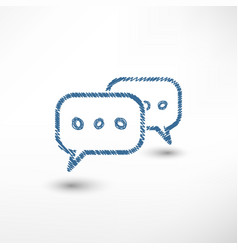 chat sketch icon vector image