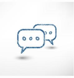 chat sketch icon vector image vector image