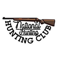 color vintage hunting club emblem vector image