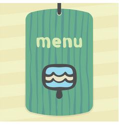 outline blue ice cream lolly icon modern logo and vector image