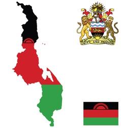 Republic of Malawi Flag vector image vector image