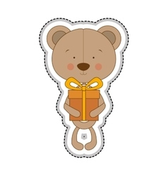 Teddy bear character icon image vector