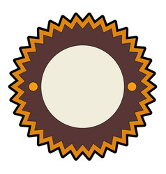 isolated round icon banner vector image