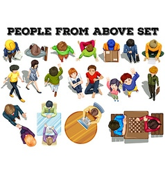 People from the top view vector image