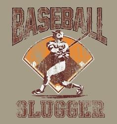 slugger baseball vector image