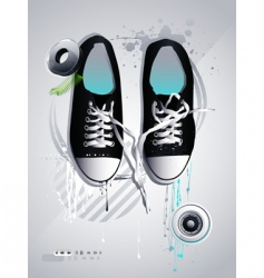 athletic shoes vector image vector image