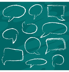 Chalk speech bubbles vector image
