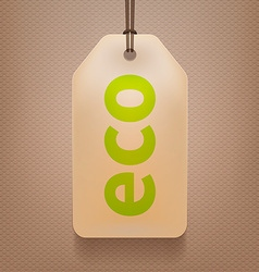 Eco tag vector
