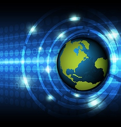 global technology concept background vector image