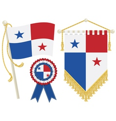 panama flags vector image