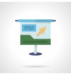 Project presentation flat color icon vector image
