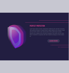 shield protection banner vector image vector image