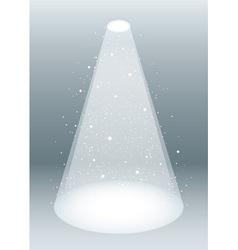 snow falling in spotlight vector image vector image