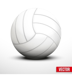 Volleyball in traditional color on white vector image