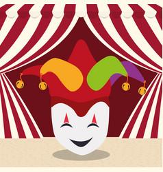 april fools day mask joker hat vector image