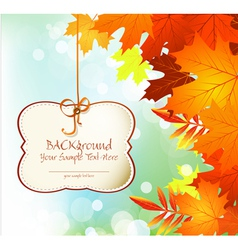 autumn festive background vector image vector image