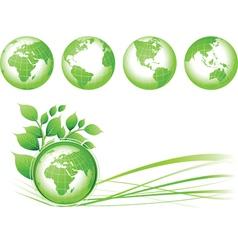 green earth vector image vector image