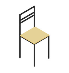 isometric wooden chair vector image vector image