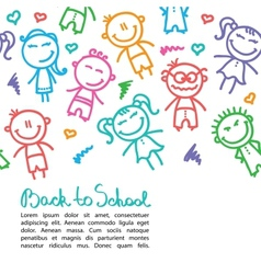 kid background vector image