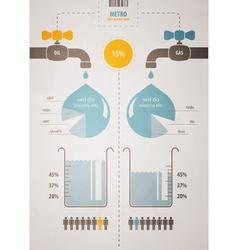 retro infographics account scheme with a liquid vector image vector image