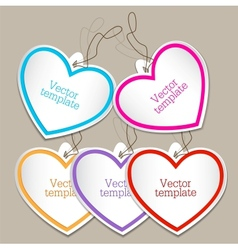 Set of bubbles stickers labels tags Shape of vector image vector image