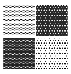 Set of simple dotted patterns vector image vector image