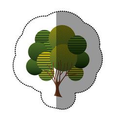 stamp creative tree icon vector image