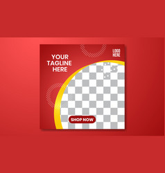 03 social media and banner template red gradient vector