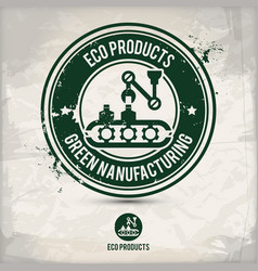 Alternative eco product stamp vector