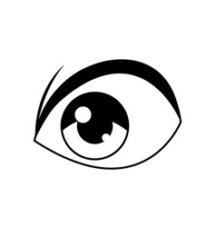 anime eye comic manga image vector image
