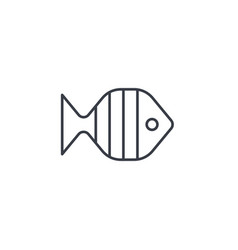 Aquarium fish goldfish thin line icon linear vector