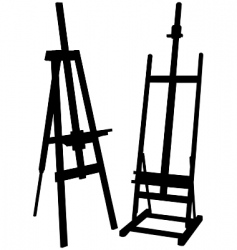 Artist easel vector