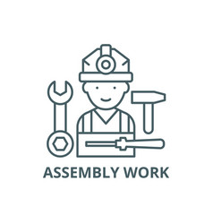Assembly work line icon work vector