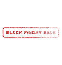 black friday sale rubber stamp vector image