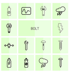 bolt icons vector image