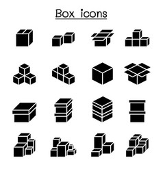 boxes icon set vector image